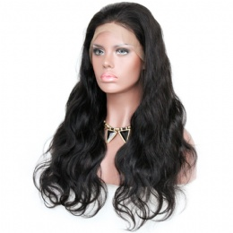 body wave brazilian virgin hair improved 360°anatomic lace wigs 150% thick density pre-plucked hairline