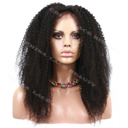 6inches Lace Front Wig Brazilian Virgin Hair Afro Kinky Curl