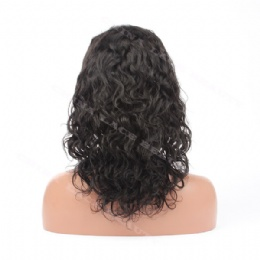 Lace Front Wig Indian Remy 12inches 1# natural curl