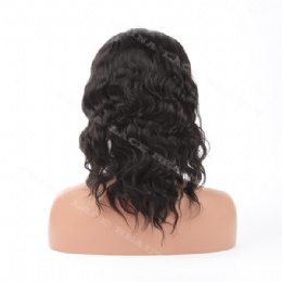 Lace Front Wig Indian Remy 12inches 1# natural wave