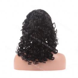 Lace Front Wig Indian Remy 18inches big bottom curl