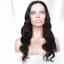 Machine weft made wigs body wave