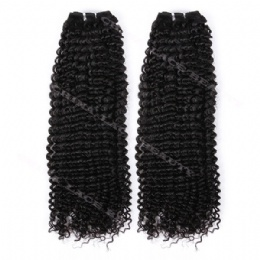 machine weft afro curl