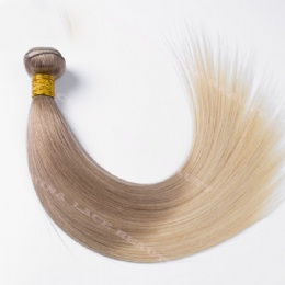 machine weft 2 tone color straight