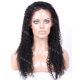 Full Lace Wig Chinese Virgin Hair Kinky Curl