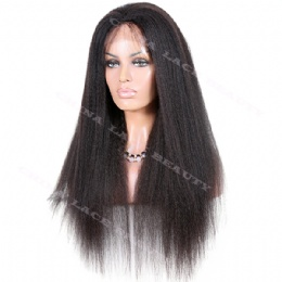 Full Lace Wig Virgin Human Hair Italian Yaki