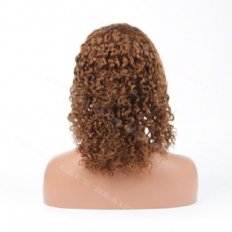 Lace Front Wig Indian Remy 10inches 4# curly