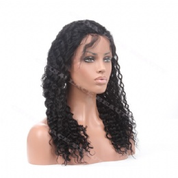Lace Front Wig Indian Remy 18inches deep wave