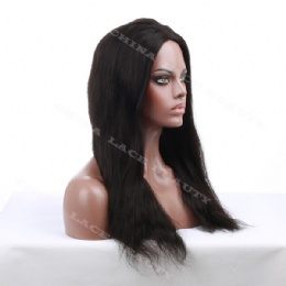 Glueless cap lace wigs 18inches natural straight